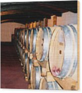 Oak Red Wine Barrels Wood Print