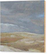 Oak Savanna, Fall Storm Wood Print