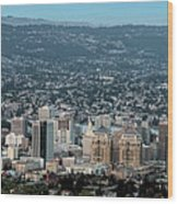 Oakland California Skyline Wood Print