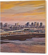 Oakland Sunset Wood Print