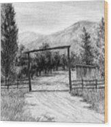 Oakley Ranch Entrance Wood Print