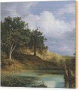 Oaks Beside The Water 1832 By Christian E. B. Morgenstern Wood Print