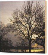 Oakwood Lakes Sunset Wood Print