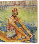 Oarsman Wood Print