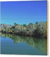 Oasis Reflection Wood Print