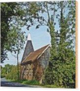 Oast House Wood Print