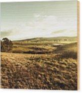 Oatlands Rolling Hills Wood Print