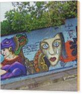 Oaxaca Graffiti Wood Print