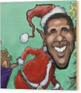 Obama Christmas Wood Print