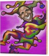Obama Jester Wood Print