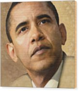 Obama Wood Print by Joel Payne