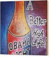Obama Light Wood Print