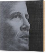 Obama Wood Print by Lise PICHE