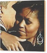 Obama Love Wood Print