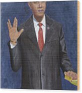 Obama Taking The Oath Of Office Wood Print by TC North