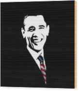 Obama Wood Print by War Is Hell Store