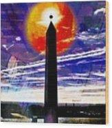 Obelish Eclipse Wood Print