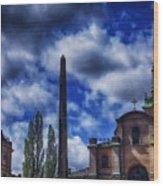 Obelisk In Gamla Stan Wood Print