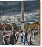 Obelisque De Luxor Wood Print
