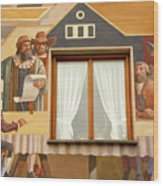 Oberammergau Frescoe Wood Print