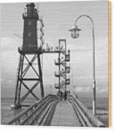 Obereversand Lighthouse - North Sea - Germany Wood Print