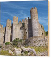 Obidos Castle Wood Print by Carlos Caetano