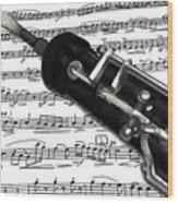 Oboe Wood Print