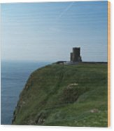 O'brien's Tower At The Cliffs Of Moher Ireland Wood Print
