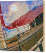 Observation Tower Circuit Of The Americas Wood Print
