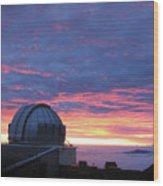 Observatory Sunset Wood Print