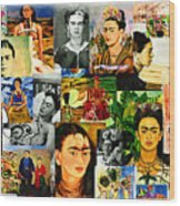 Obsessed With Frida Kahlo Wood Print