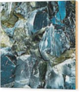 Obsidian In Newberry National Volcanic Monument, Oregon  Wood Print