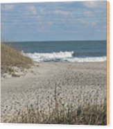 Obx Beach And Dunes Wood Print
