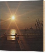 Obx Sunrise Wood Print