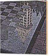Occidental Park Checkerboard Wood Print