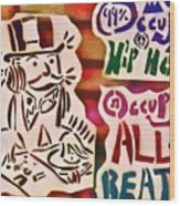 Occupy All Beats Wood Print by Tony B Conscious