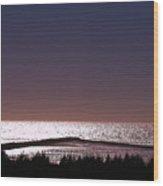 Ocean At Dusk Wood Print