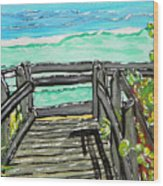 ocean / Beach crossover Wood Print