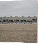 Ocean Beach Houses Wood Print