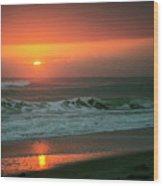 Ocean Beach Sunrise Wood Print