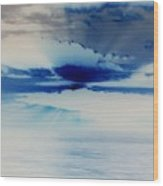 Ocean Blue Monday Wood Print