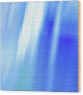 Ocean Blues Abstract Wood Print