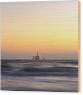 Ocean Blur Wood Print