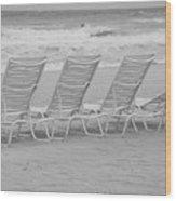 Ocean Chairs Wood Print