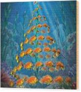 Ocean Christmas Wood Print