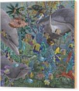 Ocean Circus Wood Print
