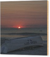 Ocean City New Jersey At Sunrise Wood Print