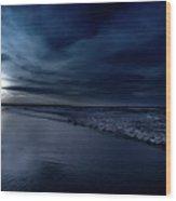 Ocean City Nights Wood Print