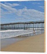 Ocean City Pier Wood Print