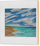 Ocean Clouds Wood Print